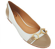 As Is C. Wonder Leather Ballet Flats with Hardware - Elizabeth - A283956