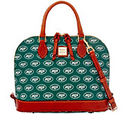 Dooney & Bourke NFL Jets Zip Zip Satchel - A285756