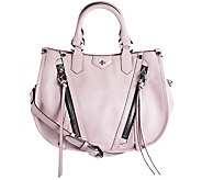 As Is orYANY Pebbled Leather Satchel - Cassandra - A291056