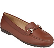 GEOX Leather Slip-On Loafers - Elidia - A298856
