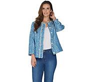GRAVER Susan Graver Tweed Button Front Jacket - A301156
