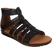 Clarks Leather Adjustable Gladiator Sandals - Kele Lotus - A306056