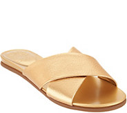 Vince Camuto Cross Band Slides - Esulla - A306356