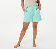 AnyBody Loungewear Cozy Knit Lt French Terry Shorts - A306956