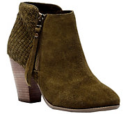 Sole Society Leather Heeled Ankle Boots - Zada - A355456