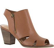 Bella Vita Leather Peep-toe Booties - Kimmy - A356956