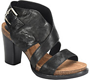 Sofft Leather Heeled Sandals - Christine - A364656