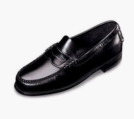 Mens Dexter Black Penny Loafer Shoes