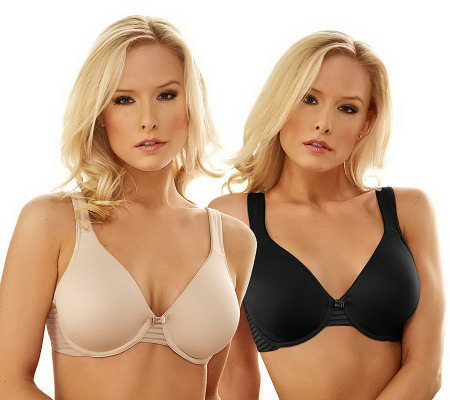 Barely Breezies S/2 Seamless Full Coverage Modern Teardrop Bras