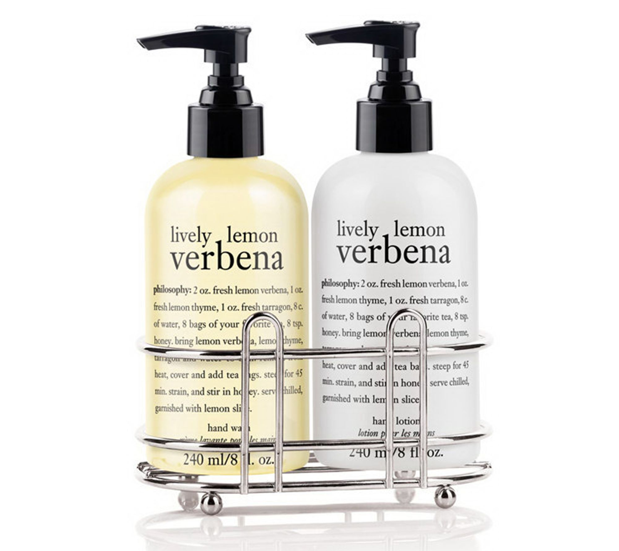 philosophy hand wash & hand lotion duo with sink caddy