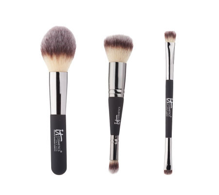 It Cosmetics Essentials Full Size Face & Eye Brush Trio