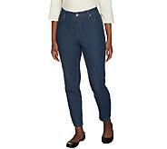 Liz Claiborne New York Petite Jackie Slim Leg Ankle Denim Jeans - A240857
