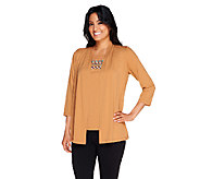 Bob Mackies Embroidered Jersey Knit Twinset - A256957