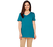 Liz Claiborne New York Essentials Short Sleeve U-Neck Tunic - A261257