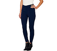 Joan Rivers Regular Length Pull-on Knit Legging with Seam Detail - A262857