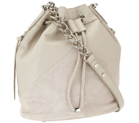 Marc Fisher Drew Leather and Suede Bucket Bag