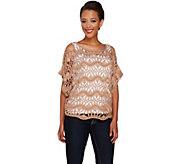 Tashon Deco Crochet Poncho - A264757