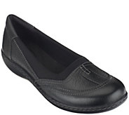 As Is Clarks Leather Slip-on Shoes - Ashland Hustle - A269057