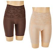 Breezies Seamless Solid & Jacquard Long Leg Control Panties - A272957