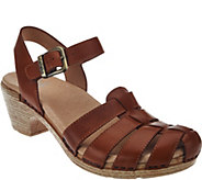 Dansko Leather Closed-toe Sandals with Backstrap - Milly - A274357