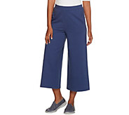 Denim & CO. Active Culotte Pants with Forward Seaming Detail - A277657