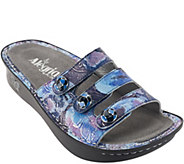 As Is Alegria Printed Triple Strap Sandals - Fiona - A282457