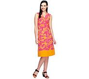 As Is Liz Claiborne New York Petite Border Knit Print Dress - A290957