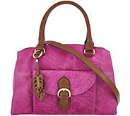 Tignanello Embossed Vintage Leather Satchel Handbag - A292857
