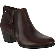 Earth Leather Ankle Boots w/ Embossed Detail - Osprey - A296857