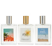 philosophy pure grace summer eau de toilette fragrance trio - A307557