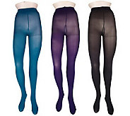 Legacy Control Top Opaque Tights 3 Pairs - A31857
