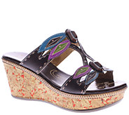 Spring Step LArtiste Leather Wedge Sandals - Queenston - A336057