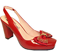 Bellini Slingback Pumps with Bow Detail - Genesis - A336857