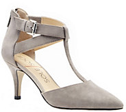 Sole Society T-Strap Leather Pumps - Avalon - A340257