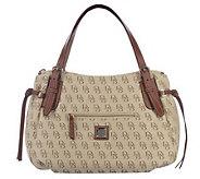 Dooney & Bourke Signature Large Nina Bag with Leather Trim - A215458
