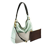orYANY Adele Pebble Leather Hobo w/ Accessory Zippered Pouch - A254258
