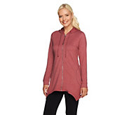 LOGO Lounge by Lori Goldstein French Terry Hooded Jacket - A256458