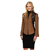 Mark of Style by Mark Zunino Herringbone Jacket with Stand Collar - A257658