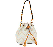 Dooney & Bourke Multi Colored Chevron Drawstring Bag - A263958