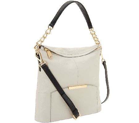 Marc Fisher Cora Leather Convertible Zip Top Hobo Bag