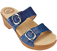 Dansko Leather Slide Sandals with Double Adj. Straps - Sophie - A264858