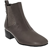 H by Halston Gored Leather Ankle Boots - Alison - A269758