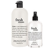 philosophy fresh cream 32oz shower gel & 16oz spritz duo - A270558