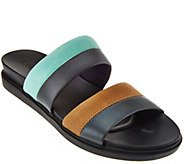 LOGO by Lori Goldstein Two Toned Mixed Media Strap Sandals - A274558