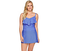 Isaac Mizrahi Live! Polka Dot Swim Dress - A276358