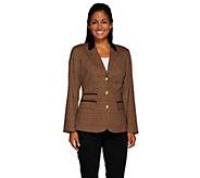 As Is Liz Claiborne New New York Heritage Blazer w/ Suede - A276858