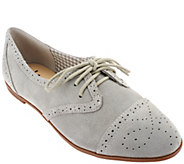 As Is Isaac Mizrahi Live! Suede Oxfords - A279258