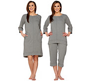 Carole Hochman French Terry Lounge Dress or Pajama Set - A281858
