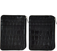 ID Stronghold RFID Set of 2 Croco Minis with Zipper - A286158