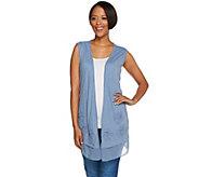 As Is LOGO by Lori Goldstein Cotton Slub Knit Vest with Embellishment - A287258